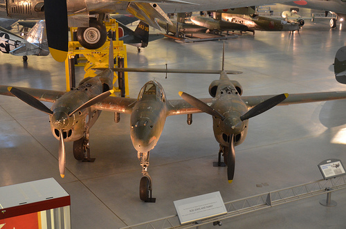 Steven F. Udvar-Hazy Center: Lockheed P-38J-ten-LO Lightning