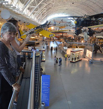 Steven F. Udvar-Hazy Center: major hall panorama